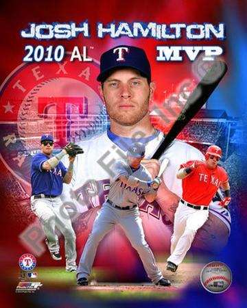 Josh Hamilton 2010 Americal League MVP Portrait Plus