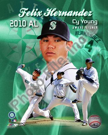 MLB Felix Hernandez 2010 American League Cy Young Winner Portrait Plus