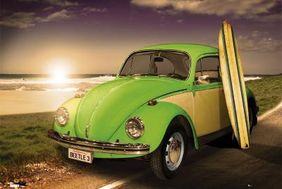 VW BEETLE - With Surfboard