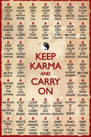 KEEP KARMA & CARRY ON