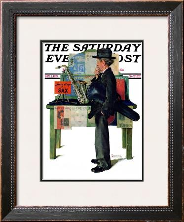 """""""Jazz It Up"""" or """"Saxophone"""" Saturday Evening Post Cover, November 2,1929"""