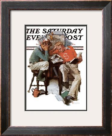 """Cramming"" Saturday Evening Post Cover, June 13,1931"