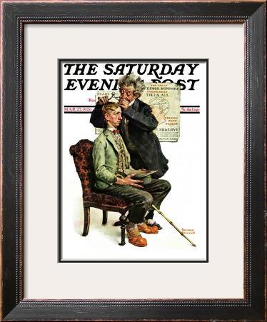 """Phrenologist"" Saturday Evening Post Cover, March 27,1926"