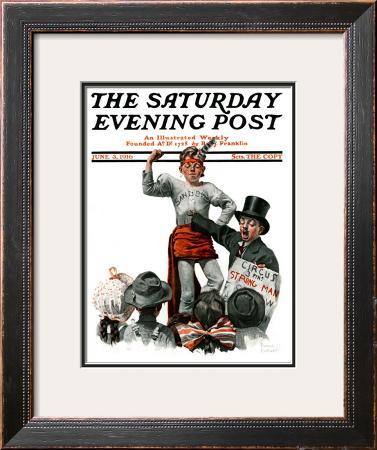 """Circus Strongman"" Saturday Evening Post Cover, June 3,1916"