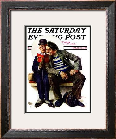"""Plot Thickens"" Saturday Evening Post Cover, March 12,1927"