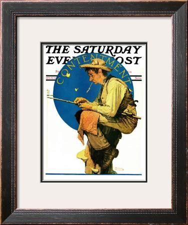 """""""Contentment"""" Saturday Evening Post Cover, August 28,1926"""