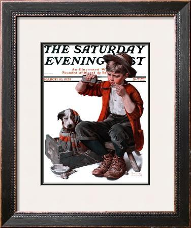 """Sick Puppy"" Saturday Evening Post Cover, March 10,1923"