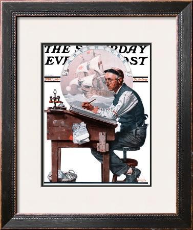 """""""Escape to Adventure"""" Saturday Evening Post Cover, June 7,1924"""