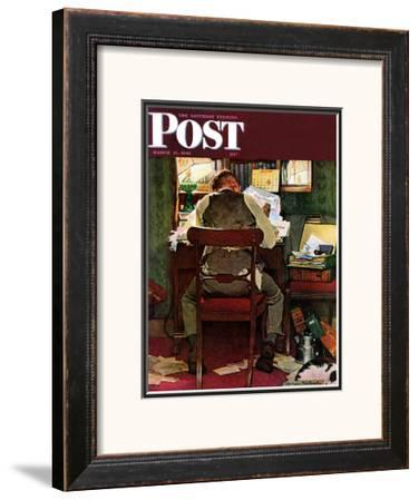 """""""It's Income Tax Time Again!"""" Saturday Evening Post Cover, March 17,1945"""