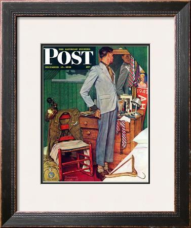 """""""Imperfect Fit"""" Saturday Evening Post Cover, December 15,1945"""