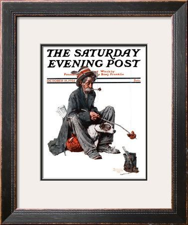 """Hobo"" Saturday Evening Post Cover, October 18,1924"