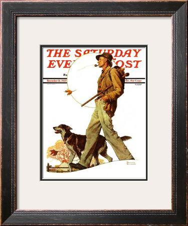 """Autumn Stroll"" Saturday Evening Post Cover, November 16,1935"