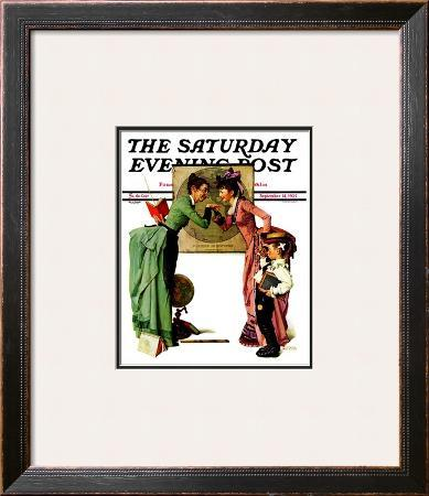 """""""First Day of School"""" or """"Back to School"""" Saturday Evening Post Cover, September 14,1935"""