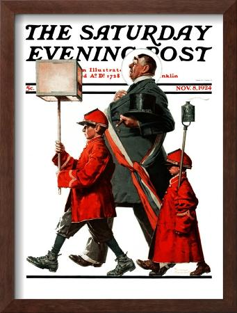 """Army March"" or ""Grand Reception"" Saturday Evening Post Cover, November 8,1924"