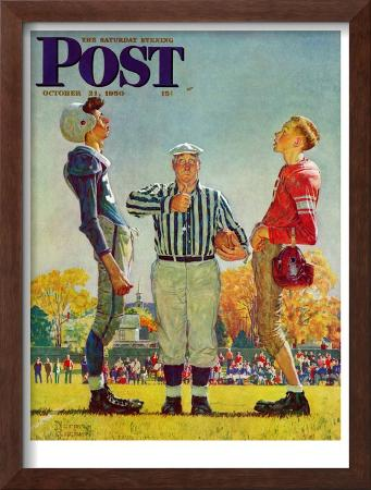 """Coin Toss"" Saturday Evening Post Cover, October 21,1950"