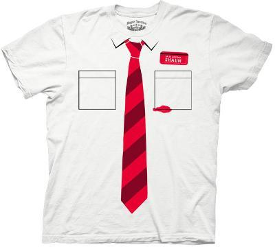 Shaun of the Dead - Shirt And Tie Men's Costume Tee