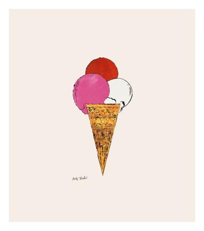 Ice Cream Dessert, c.1959 (Red, Pink and White)