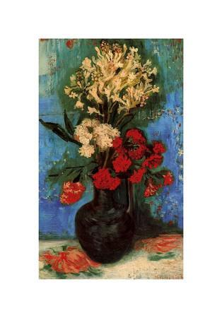 Vase with Carnations and Other Flowers, c.1886