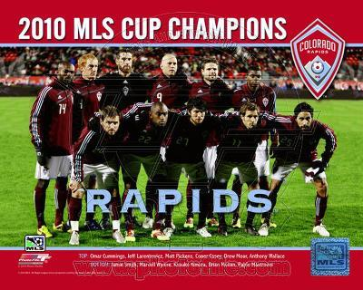 The Colorado Rapids 2010 MLS Cup Champions Team Photo with Overlay