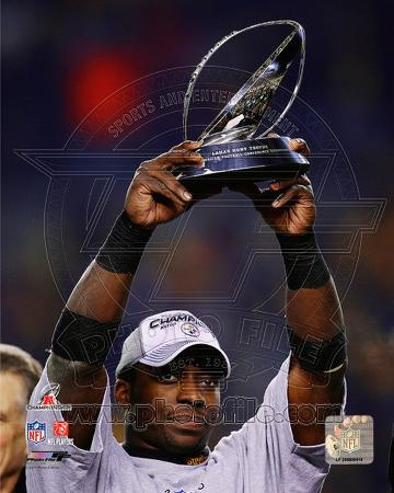 Rashard Mendenhall With the 2010 AFC Championship Trophy