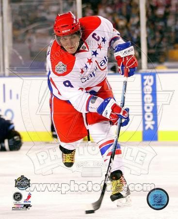 Alex Ovechkin 2011 NHL Winter Classic Action