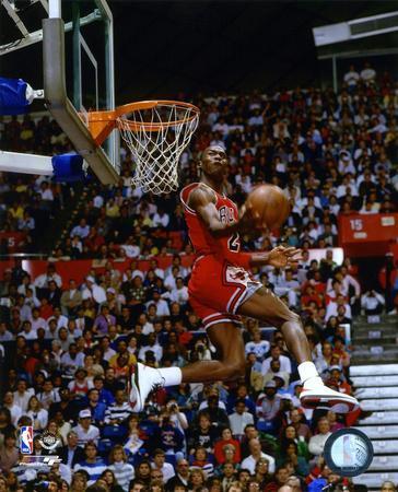 NBA Michael Jordan 1987 Slam Dunk Contest Action