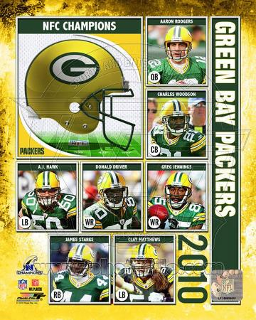 Green Bay Packers 2010 NFC Championship Composite