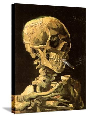 Skull with Burning Cigarette