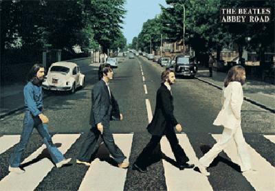 Beatles - Abbey Road - 3D Poster
