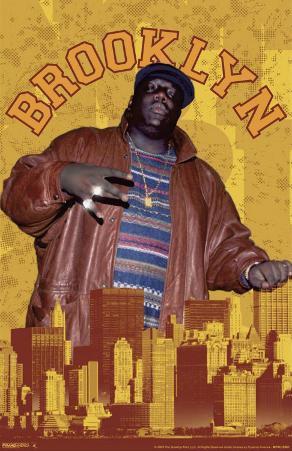 Notorious BIG - Brooklyn - 3D Poster