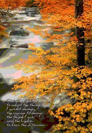 Serenity Prayer - River - 3D Poster