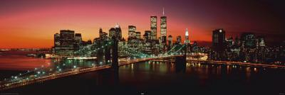 New York - Brooklyn Bridge at night