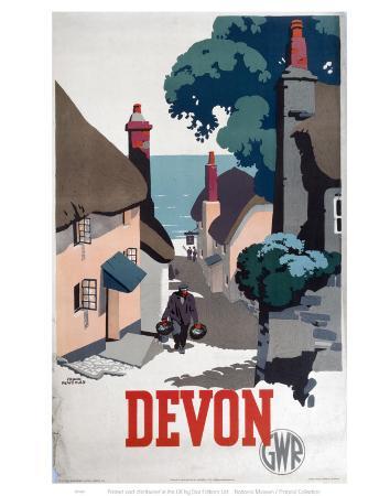 Devon GWR Old Man Walking Up Street