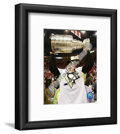 Evgeni Malkin Game 7 - 2008-09 NHL Stanley Cup Finals With Trophy
