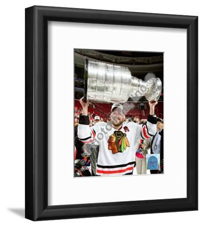 Patrick Sharp with the 2009-10 Stanley Cup