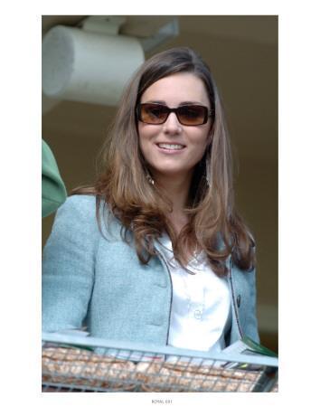 Kate Middleton, in the Royal box at Cheltenham Racecourse