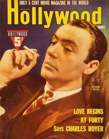 Charles Boyer - Hollywood Magazine Cover 1940's