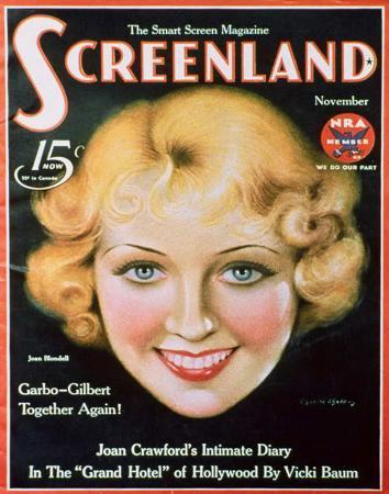 Joan Blondell - ScreenlandMagazineCover1930's