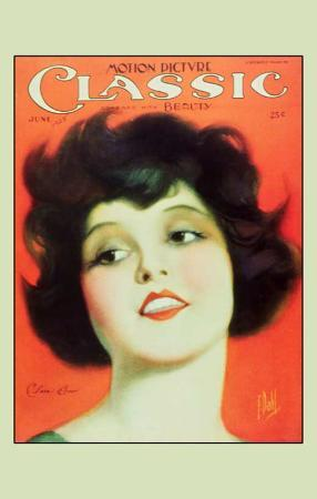 Clara Bow - Motion Picture Classic Magazine Cover 1920's