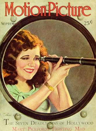Clara Bow - Motion Picture Magazine Cover 1930's