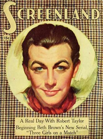 Robert Taylor - Screenland Magazine Cover 1930's