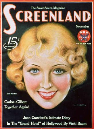 Joan Blondell - Screenland Magazine Cover 1930's