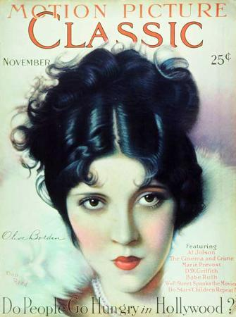 Olive Borden - Motion Picture Classic Magazine Cover 1920's