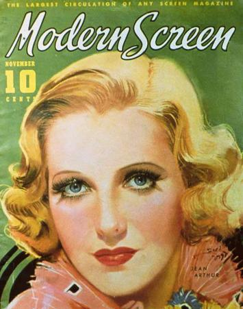 Jean Arthur - Modern Screen Magazine Cover 1930's