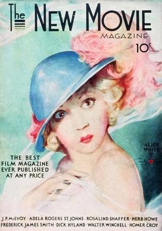 White, Alice - The New Movie Magazine Cover 1930's
