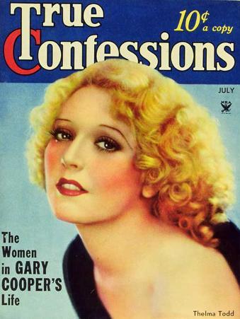 Thelma Todd - True Confessions Magazine Cover 1930's