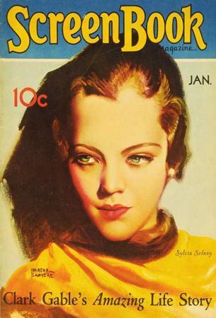 Sylvia Sidney - Screen Book Magazine Cover 1930's