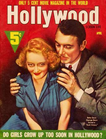Bette Davis - Hollywood Screen Life Magazine Cover 1930's