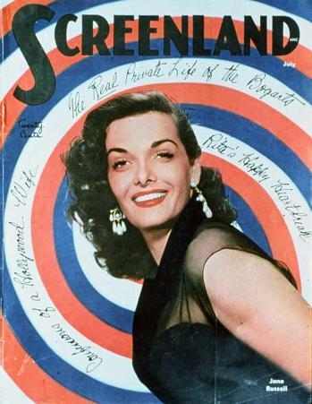 Jane Russell - Screenland Magazine Cover 1940's