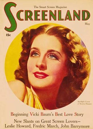 Norma Shearer - Screenland Magazine Cover 1930's